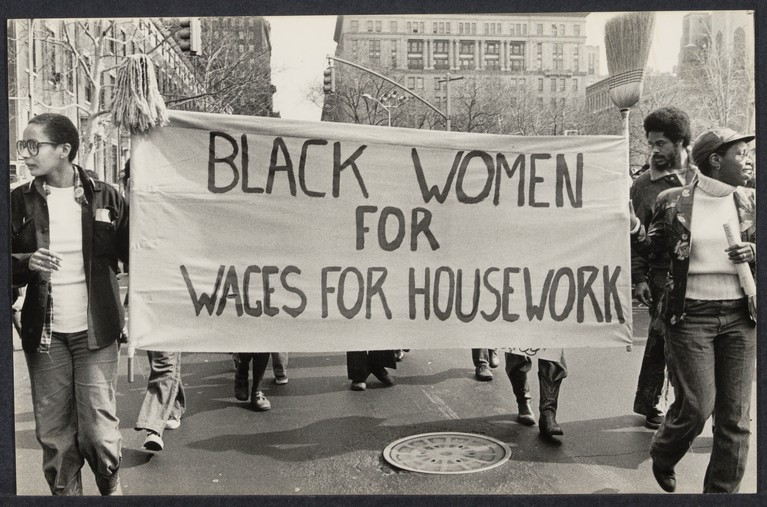 Many have questioned the relevancy of Wages for Housework based on the fact that women of color have always worked as waged labourers. This argument ignores the feminized and racialized division of labour, the wage division between production and reproduction, and the value hierarchy that follows suit.
