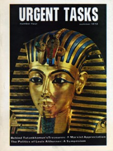 STO's Urgent Tasks issue featuring a lengthy exposition on the meaning of popular interest in King Tut.